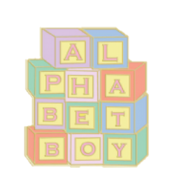 Alphabet Boy Blocks by Rosemoji