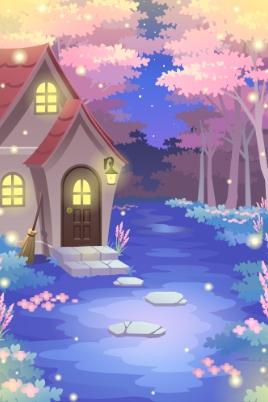Rabbit House In Woods by Rosemoji