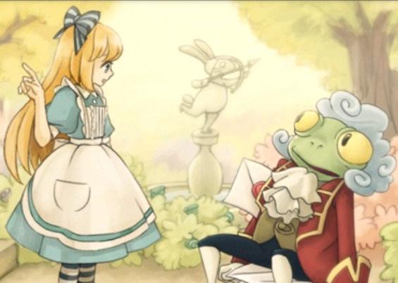 Alice meets the Frog Footman by Rosemoji