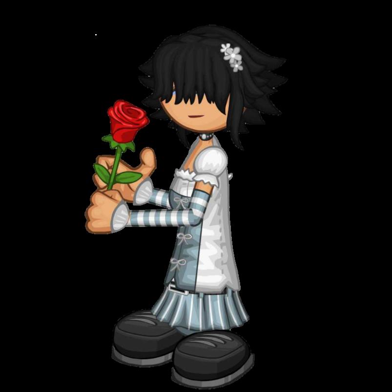 Girl with Rose by Rosemoji