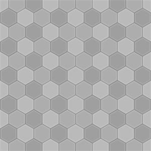 Honeycomb Tiles Grey Fl By Rosemoji