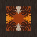 Black Flooring And Monstera Rug (tan) by Rosemoji