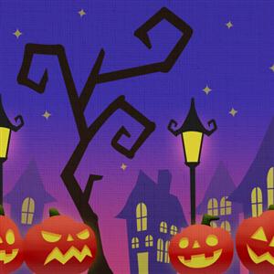 Halloween Scene by Rosemoji
