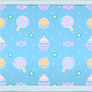 Sweets  Dots (pale blue) by Rosemoji