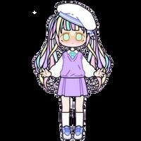 Pastel School Girl by Rosemoji