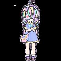 Pastel Girl with Heart Eyepatch by Rosemoji