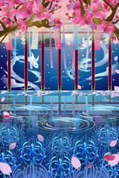 Cherry Blossoms Underwater by Rosemoji