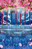 Cherry Blossoms Underwater