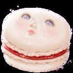 Vanilla Blood Rose Macaroon