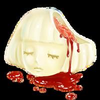 White Chocolate Coated Head by Rosemoji