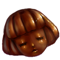 Dark Chocolate Coated Head by Rosemoji