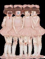 Four Creepy Ballerinas by Rosemoji