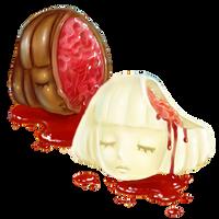 Chocolate Coated Heads by Rosemoji