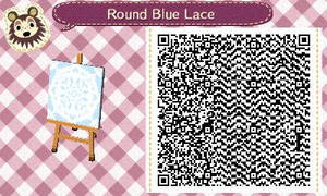 Round Blue Lace by Rosemoji