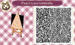Peach Lace Umbrella