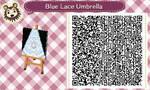 Blue Lace Umbrella