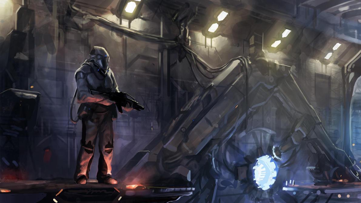 Scifi Speedpaint by Phade01