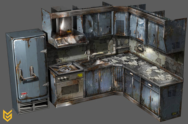 Killzone: Shadow Fall Kitchen prop