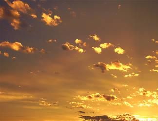 orange clouds by marlene-stock