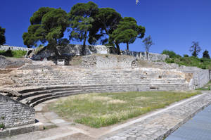 small amphitheather in Pula