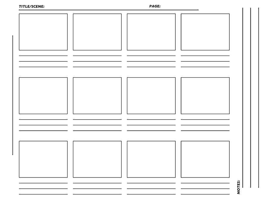 storyboard template hirez tiff by westwolf270 on deviantart. Black Bedroom Furniture Sets. Home Design Ideas