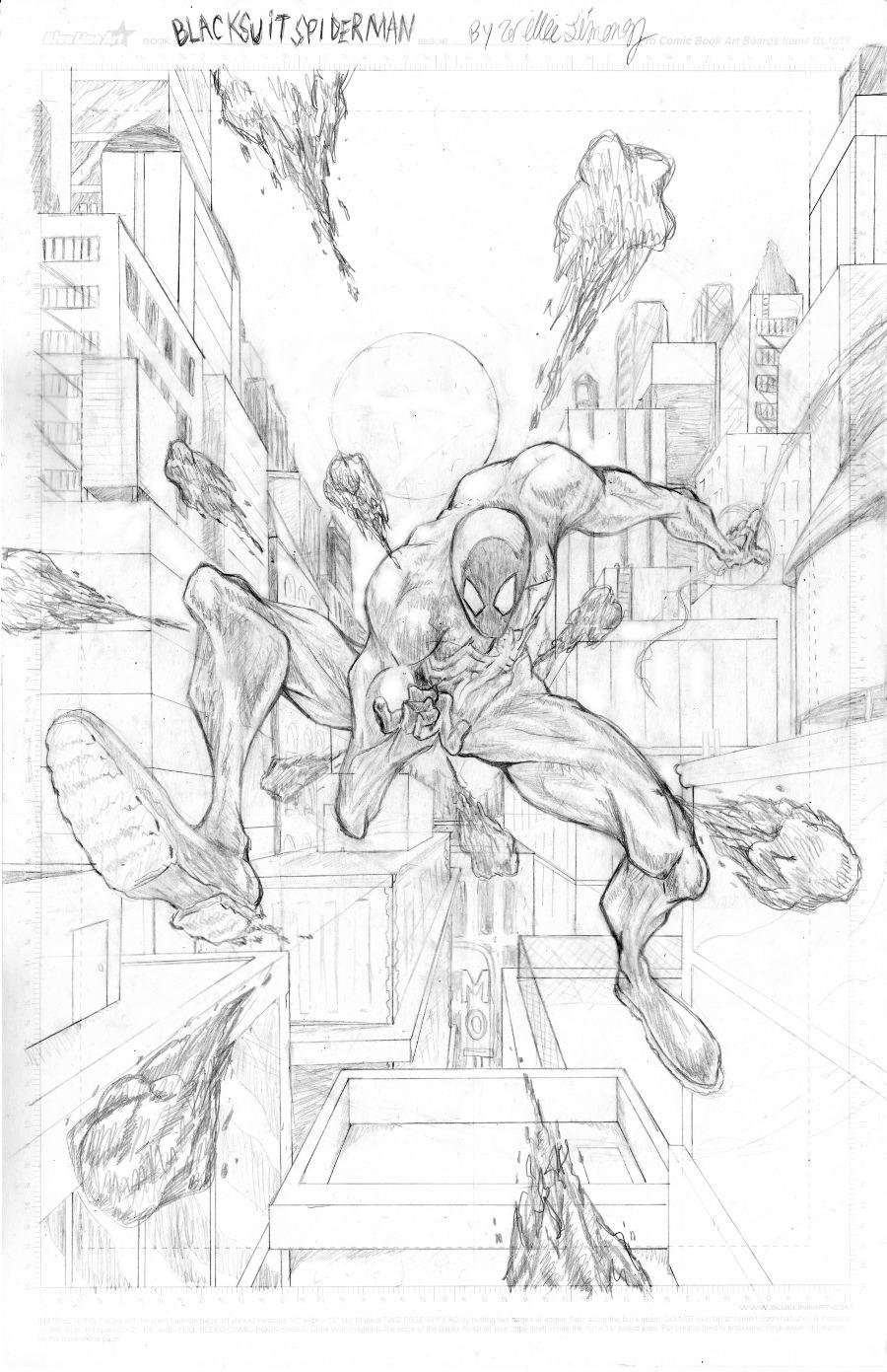 symbiote suit spiderman pencils by westwolf270