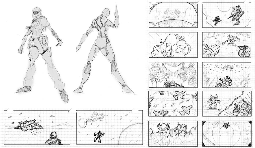 video game concept sketches by westwolf270