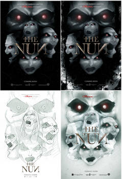 project The Nun mock poster finals