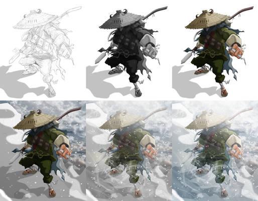Pan ku concept art-process ku mighty