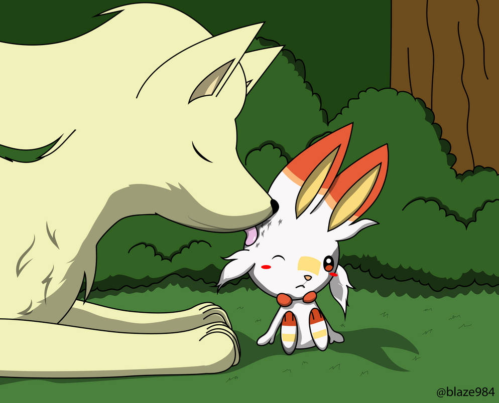 Pokemon Day 2019 Scorbunny Ninetales by blaze984