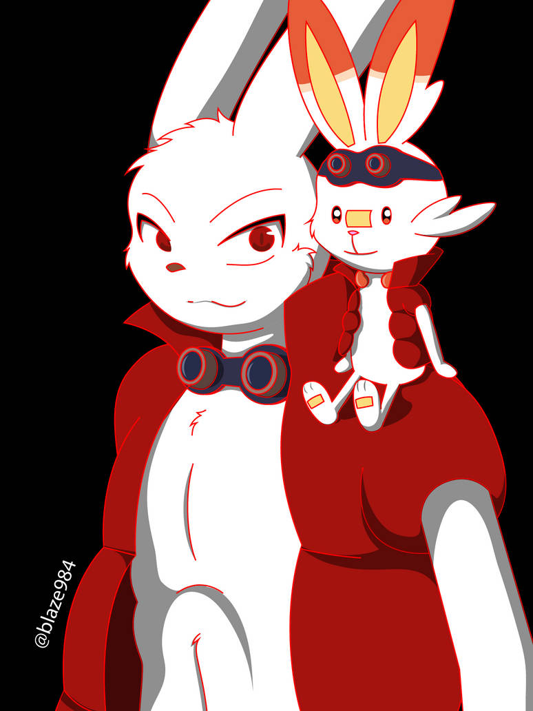 Scorbunny King Kazma (Summer Wars Pokemon SS) by blaze984