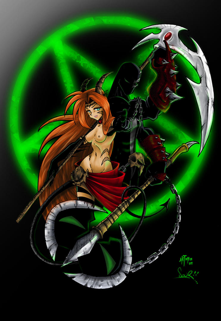 Spawn and Sexy Girl by el-sour-maldito on DeviantArt