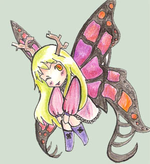 Lady butterfly by alischan