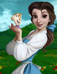 Belle and Chip by Buxom-Bunny