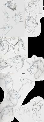 Headshots (sketches)