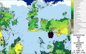 Vegetation Map of an Alternative ASOIAF