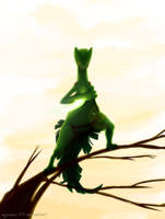 Sceptile with Leaf Blade
