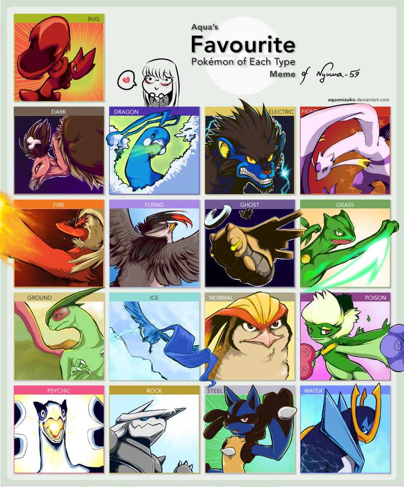 Favourite Pokemon Type Meme by Nyuwa-59