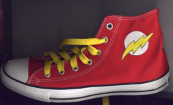 the Flash Converse Hi tops by BubbaHoTep