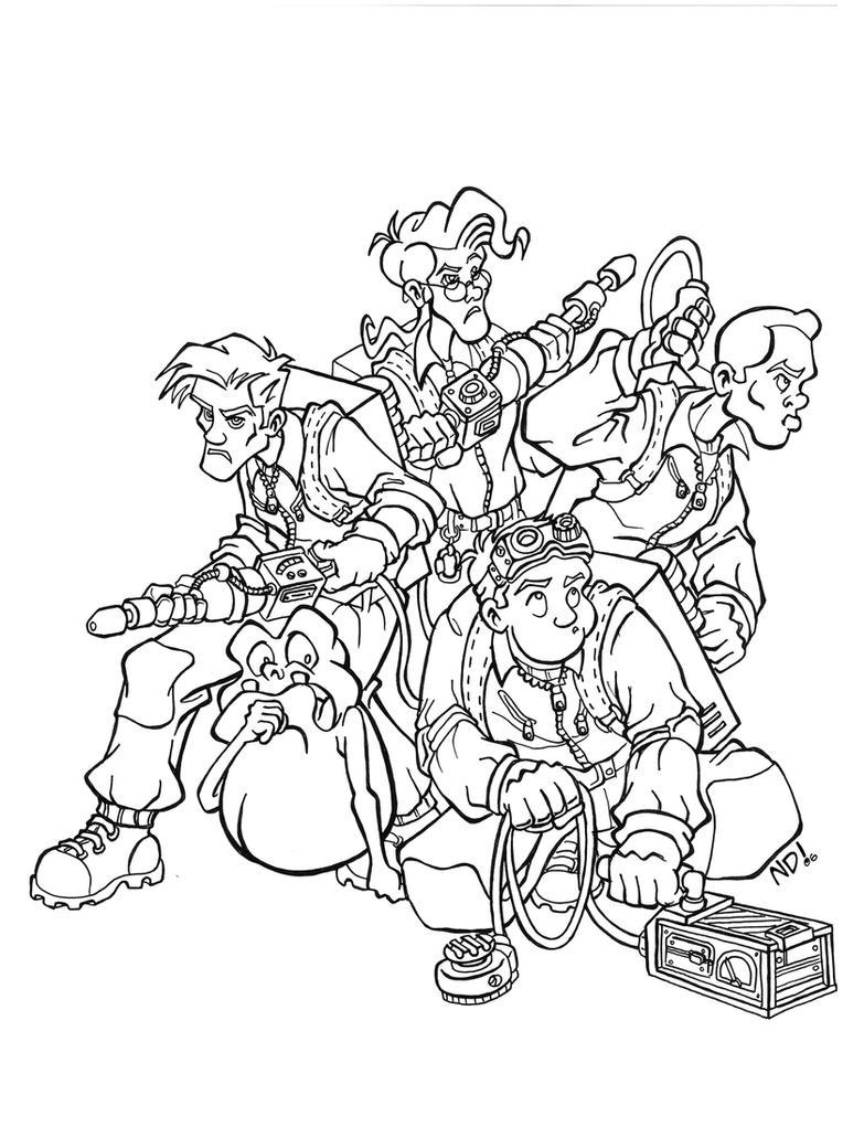 ghostbusters coloring pages - ghostbusters hi rez by scoundreldaze on deviantart