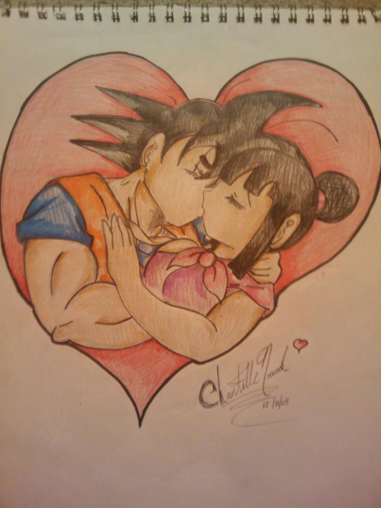 relationship between goku and chichi kiss