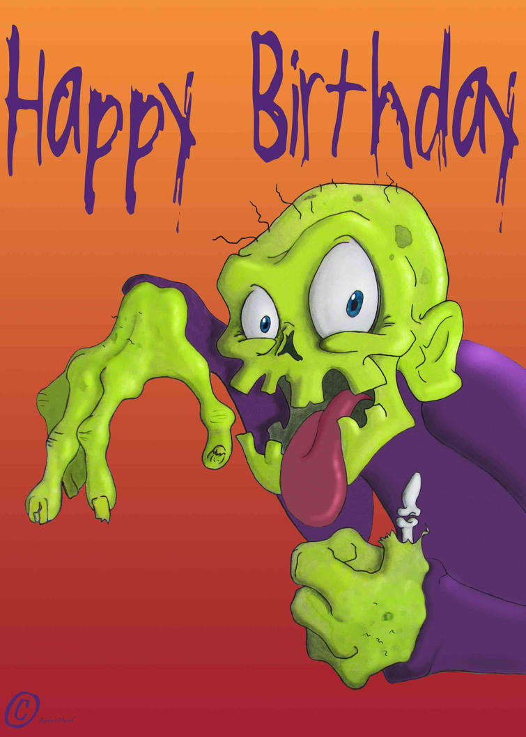 Happy birthday the zombie way by silversnake19 on deviantart happy birthday the zombie way by silversnake19 kristyandbryce Choice Image
