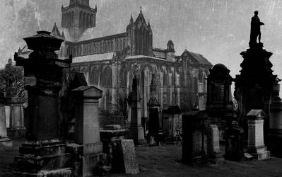 Necropolis with Cathedral. by TallTalesNTentacles