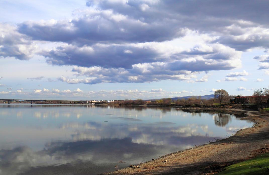 Cloud strewn river by gentlegenius