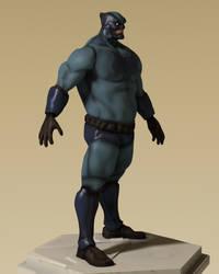 Blue Lynx 3D 02 by gryphyn7