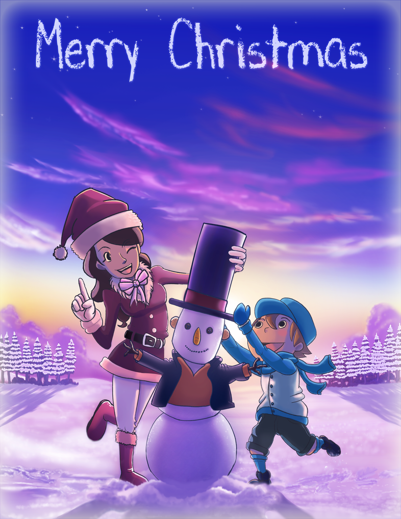 Professor Layton and the Snowman Surprise by branden9654