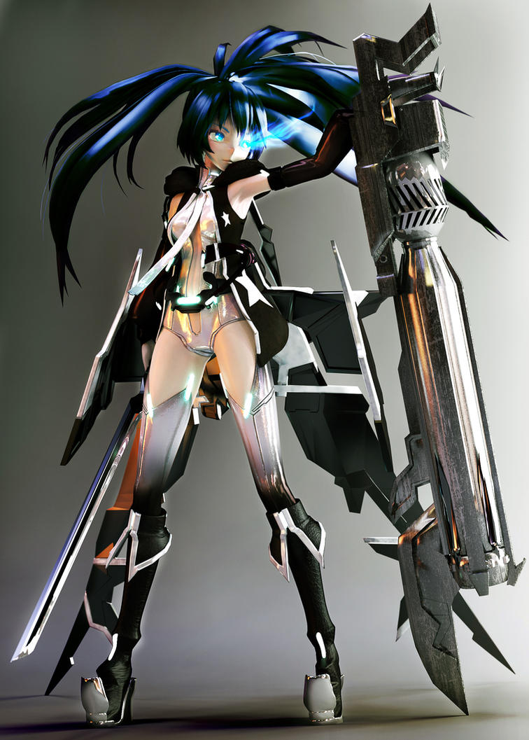 Miku Hatsune Append (Black Rock Shooter) by tetsuok9999