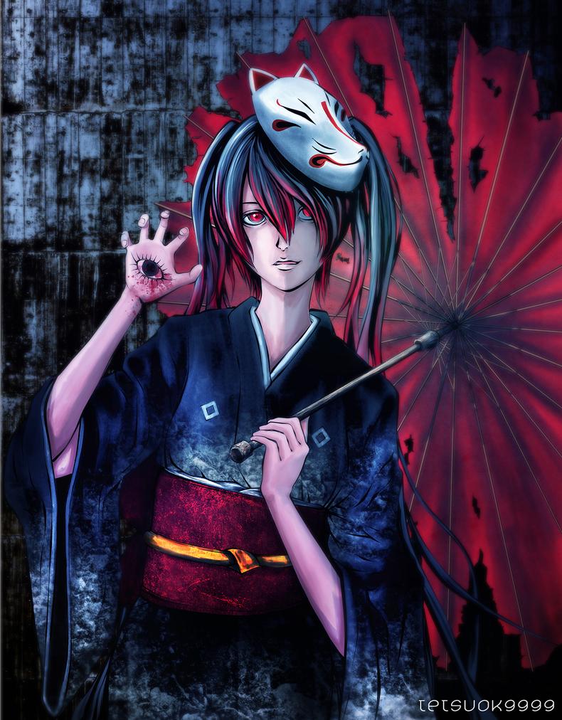 Hatsune Miku(Musunde Hiraite Rasetsu to Mukuro.) by tetsuok9999
