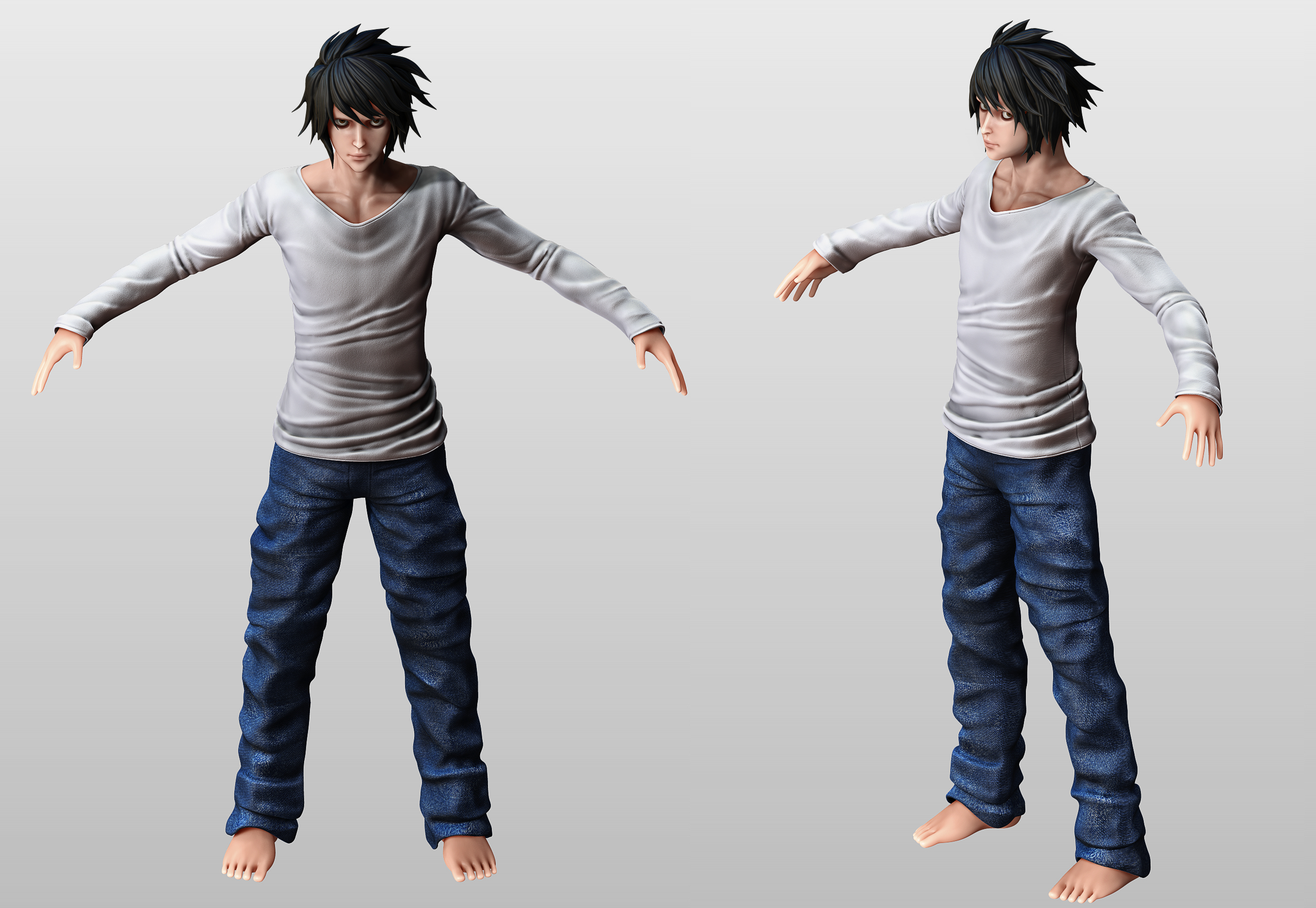 Doku  Lawliet  Law L__death_note__wip2_by_tetsuok9999-d64qjdn