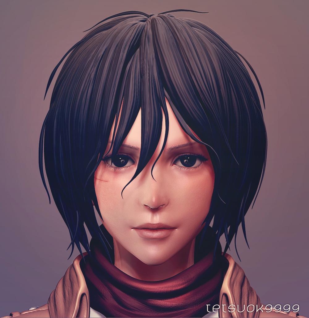Mikasa Ackerman(wip5) by tetsuok9999